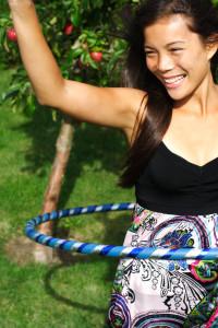 lady hula hoop
